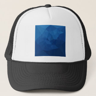 Egyptian Blue Abstract Low Polygon Background Trucker Hat