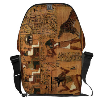 Egyptian books of the dead. courier bag
