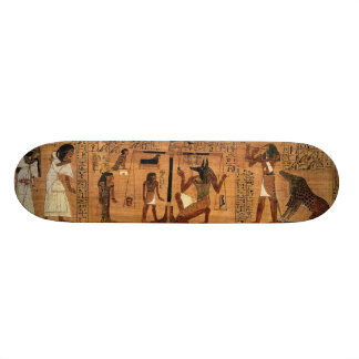 Egyptian books of the dead. skate boards