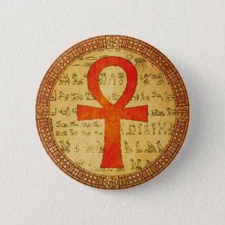 Egyptian Button - Ankh Cross