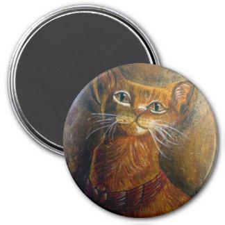 Egyptian Cat 7.5 Cm Round Magnet