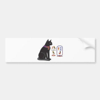 Egyptian Cat Goddess Bastet Bumper Sticker