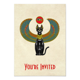 Egyptian Cat Goddess Card