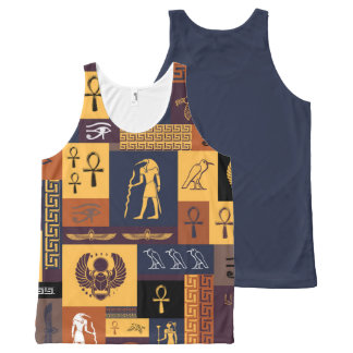 Egyptian Collage All-Over Print Singlet