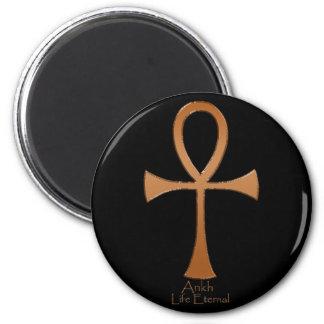 Egyptian Copper ANKH 6 Cm Round Magnet