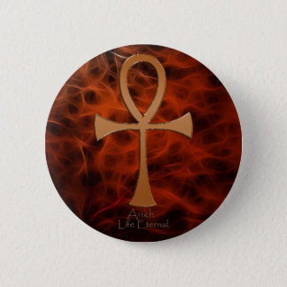 Egyptian Copper-effect Red Fractal ANKH Buttons