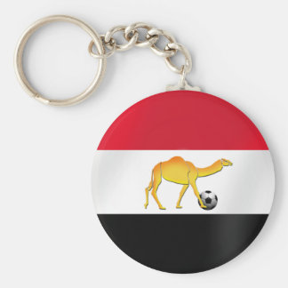 Egyptian desert camel soccer ball flag key ring
