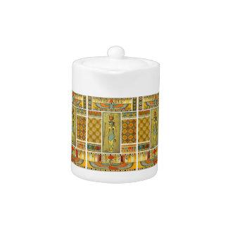 Egyptian Design Porcelain Teapot