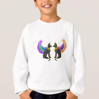 egyptian dog with wings sweatshirt