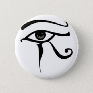 Egyptian eye Of Horus 6 Cm Round Badge