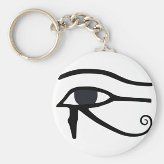 EGYPTIAN EYE OF HORUS BASIC ROUND BUTTON KEY RING