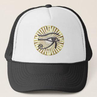 Egyptian Eye of Horus Gold and Black Trucker Hat