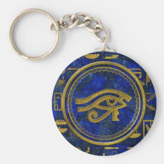Egyptian Eye of Horus - Wadjet Lapis Lazuli Key Ring