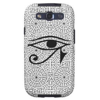 Egyptian Eye & Pattern Samsung Galaxy S3 Vibe Galaxy SIII Covers