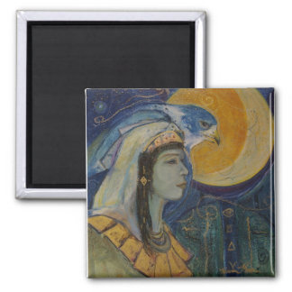 Egyptian Falcoln Moon Goddess Magnet