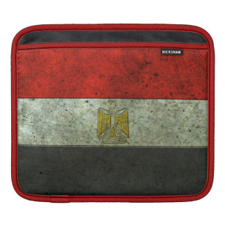 Egyptian Flag Aged Steel Effect Sleeve For iPads