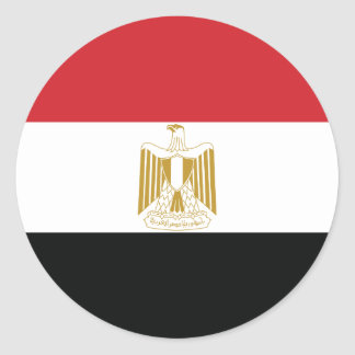 EGYPTIAN FLAG CLASSIC ROUND STICKER