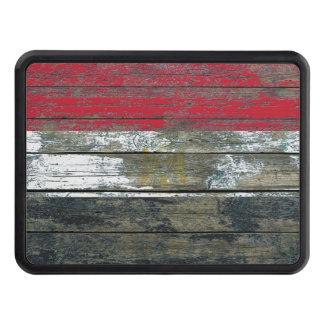Egyptian Flag on Rough Wood Boards Effect Hitch Covers