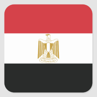 EGYPTIAN FLAG SQUARE STICKER