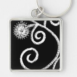 Egyptian Floral Design Key Ring