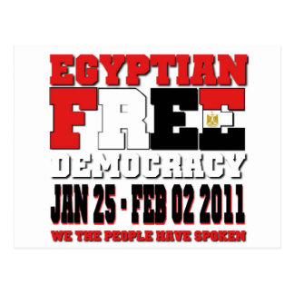Egyptian Free Democracy Postcard