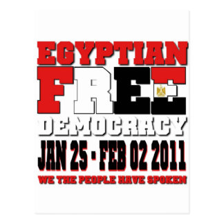 Egyptian Free Democracy Post Card