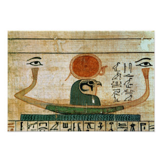 Egyptian funerary papyrus poster