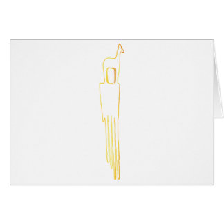 Egyptian Gazelle Comb Card