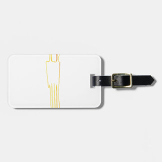 Egyptian Gazelle Comb Luggage Tag