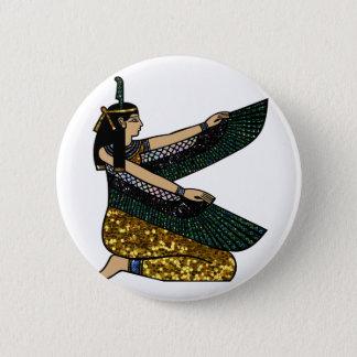 egyptian goddess 6 cm round badge