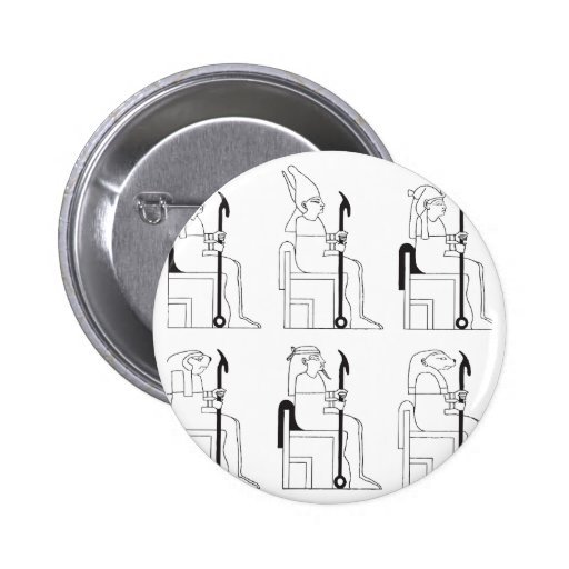 Egyptian Gods and Pharaohs in School Button