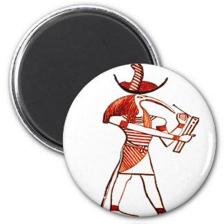 Egyptian Gods *Memphian Ptah* 6 Cm Round Magnet