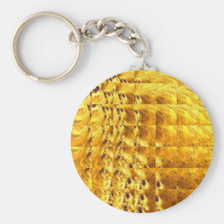 Egyptian Gold Design Multi products selected Basic Round Button Key Ring