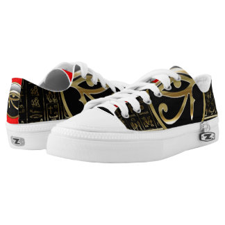 Egyptian Gold God Printed Shoes