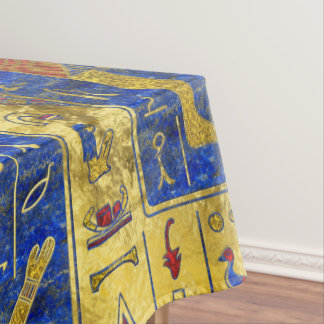 Egyptian  Gold  symbols on Lapis Lazuli Tablecloth