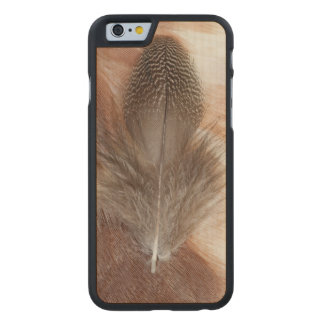 Egyptian Goose Feather Still Life Carved Maple iPhone 6 Case