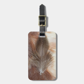 Egyptian Goose Feather Still Life Luggage Tag