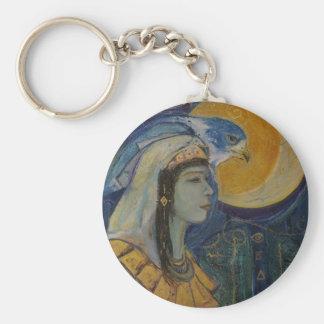 Egyptian Hawk Goddess Keychain