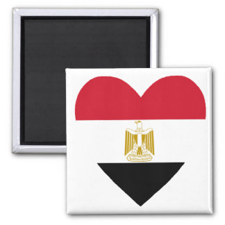 egyptian heart square magnet