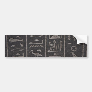 Egyptian Hieroglyphs Bumper Sticker