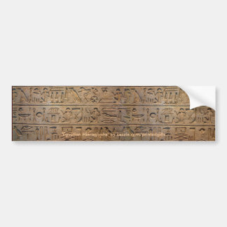 Egyptian Hieroglyphs Historic Bumper Sticker