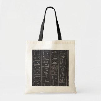 Egyptian Hieroglyphs Print Bag, Tote Bag