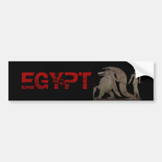 Egyptian Hippo, Croc & Isis Gifts / Greetings Bumper Sticker