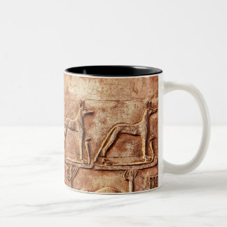 Egyptian Jackal God Wepwawet Two-Tone Coffee Mug