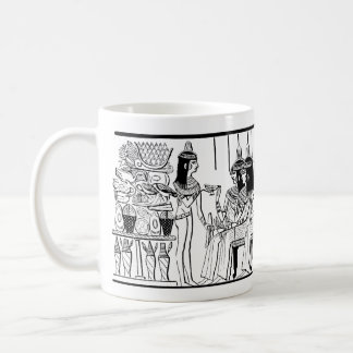 Egyptian Ladies 1886 Drawing from Thebes Tomb Coffee Mug