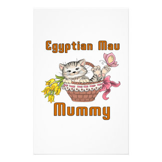 Egyptian Mau Cat Mom Stationery