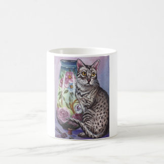 Egyptian Mau Cat Vase Mug