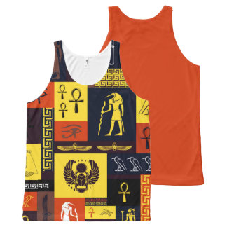 Egyptian Montage All-Over Print Singlet