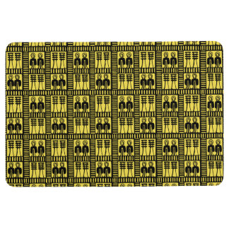 Egyptian Motif Yellow Floor Mat