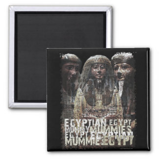 Egyptian Mummies Square Magnet
